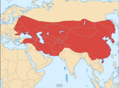 モンゴル 帝国 最大 版 図